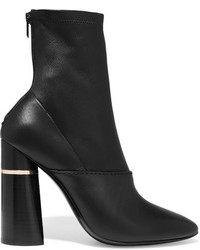 3.1 Phillip Lim Kyoto Leather Ankle Boots Black