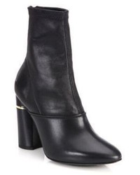 3.1 Phillip Lim Kyoto Stretch Leather Block Heel Booties