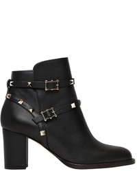Valentino 70mm Rockstud Leather Ankle Boots