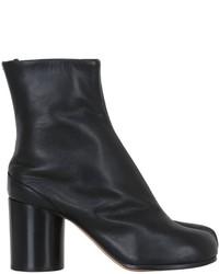 Maison Margiela 80mm Tabi Brushed Leather Ankle Boots