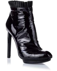 Alexander McQueen Deep Purple Patent Leather Ankle Boot