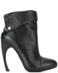 Alexander McQueen Folded Panel Ankle Boots