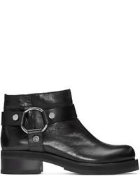 MCQ Alexander Ueen Black Harness Broadway Boots