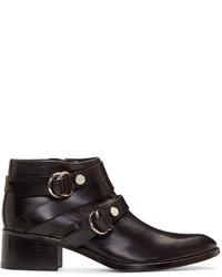 MCQ Alexander Ueen Black Ridley Harness Boots