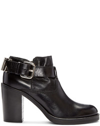 MCQ Alexander Ueen Black Wick Bullet Ankle Boots