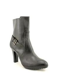 Alfani Vivienne Black Boots Calf Leather Fashion Ankle Boots
