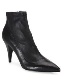 Alice + Olivia Camryn Leather Point Toe Booties