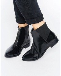 Asos Alsace Leather Zip Ankle Boots