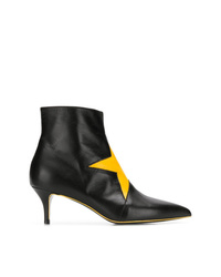 MSGM Ankle Boots With Star Patch