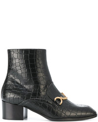 Artificial leather boots with chain detail medium 4394866