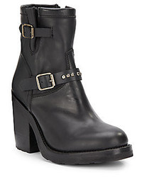 Ash Universe Leather Ankle Boots