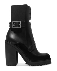 Givenchy Aviator Suede And Med Leather Ankle Boots