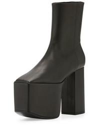 Balenciaga Wayio Leather Super Platform Bootie Noir