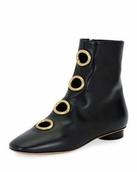 Valentino Bit Hoop Leather Bootie Black