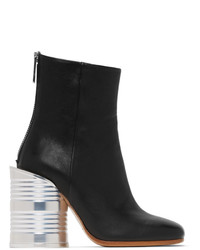 MM6 MAISON MARGIELA Black Can Heel Boots