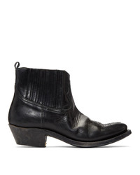 Golden Goose Black Crosby Boots
