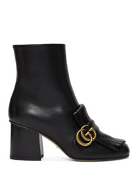 Gucci Black Double G Ankle Boots