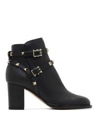 Valentino Black Garavani Block Heel Boots