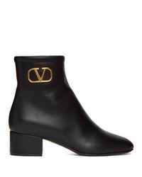 Valentino Black Garavani Vlogo Boots