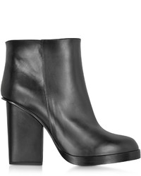 Jil Sander Black Leather Ankle Boot