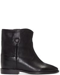 Isabel Marant Black Leather Cluster Boots