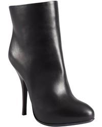 Lanvin Black Leather Platform Ankle Boots
