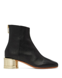 MM6 MAISON MARGIELA Black Low Can Heel Boots