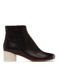 MM6 MAISON MARGIELA Black Low Heel Ankle Boots