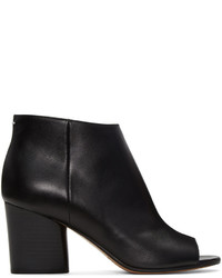 Maison Margiela Black Open Toe Ankle Boots