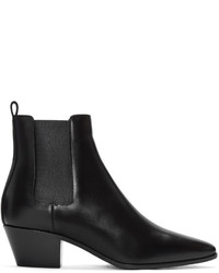 Saint Laurent Black Rock Boots