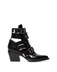 Chloé Black Rylee 60 Leather Ankle Boots