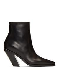 Ann Demeulemeester Black Slash Heel Boots