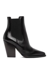 Saint Laurent Black Theo Boots
