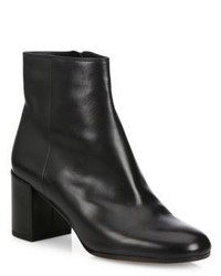 Vince Blakely Leather Block Heel Booties