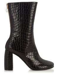 Stella McCartney Block Heel Faux Leather Ankle Boots