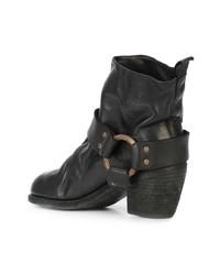 Guidi Brass Hardware Mid Heel Boot