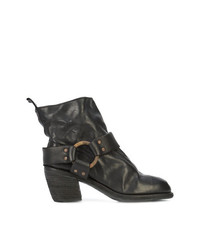 Guidi Brass Hardware Mid Heel Boot