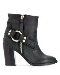Diesel Buckle Detail Ankle Boots