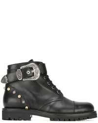 Fausto Puglisi Buckle Detail Ankle Boots