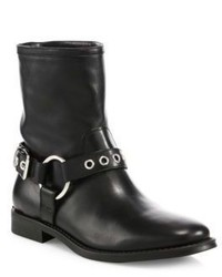 Burberry Queenstead Leather Moto Booties