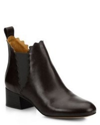 Chloé Chloe Lauren Leather Ankle Boots