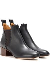 Chloé Lauren Leather Ankle Boots