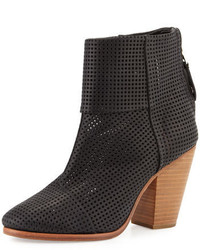 Rag & Bone Classic Newbury Perforated Bootie Black