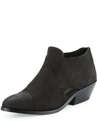 Eileen Fisher Cluster Leather Crisscross Bootie Black