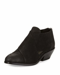 Eileen Fisher Cluster Leather Crisscross Bootie