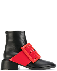 MM6 MAISON MARGIELA Contrast Buckle Ankle Boots