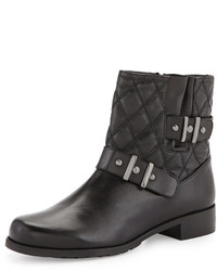 Stuart Weitzman Download Quilted Ankle Boot Black