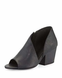 Eileen Fisher Drake Asymmetric Open Toe Bootie Black