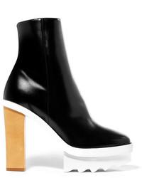 Stella McCartney Faux Leather Platform Ankle Boots Black