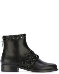 Fendi Macro Weave Ankle Boots
